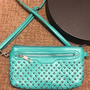 Blue bedazzled purse